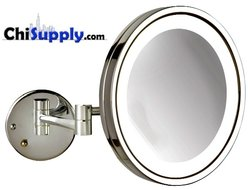 LED Hardwire Makeup Mirror in Chrome Finish