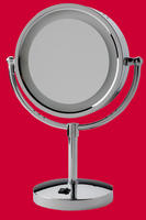 Chrome Lighted Table Top MakeUp Mirror
